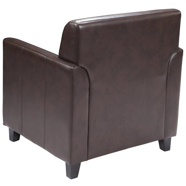 Flash Furniture HERCULES Diplomat Series Brown Leather Chair - BT-827-1-BN-GG