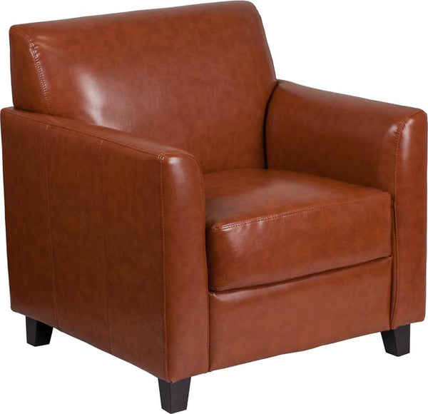 Flash Furniture HERCULES Diplomat Series Cognac Leather Chair - BT-827-1-CG-GG