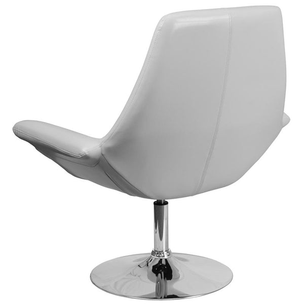Flash Furniture HERCULES Sabrina Series White Leather Side Reception Chair - CH-102242-WH-GG