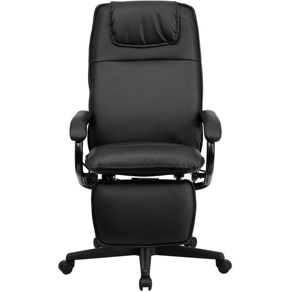 Flash Furniture High Back Black Leather Executive Reclining Swivel Chair with Arms - BT-70172-BK-GG