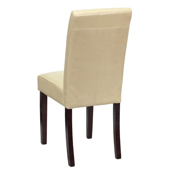 Flash Furniture Ivory Leather Parsons Chair - BT-350-IVORY-050-GG