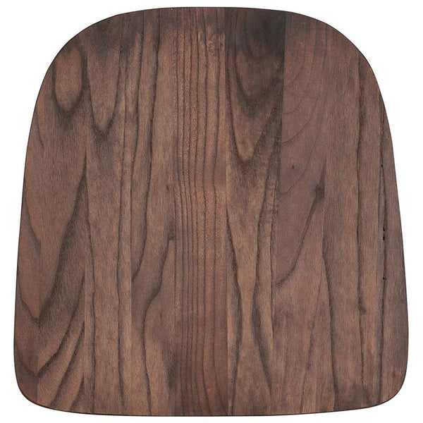 Flash Furniture Rustic Walnut Wood Seat for Colorful Metal Chairs - CH-31230M1D-GG
