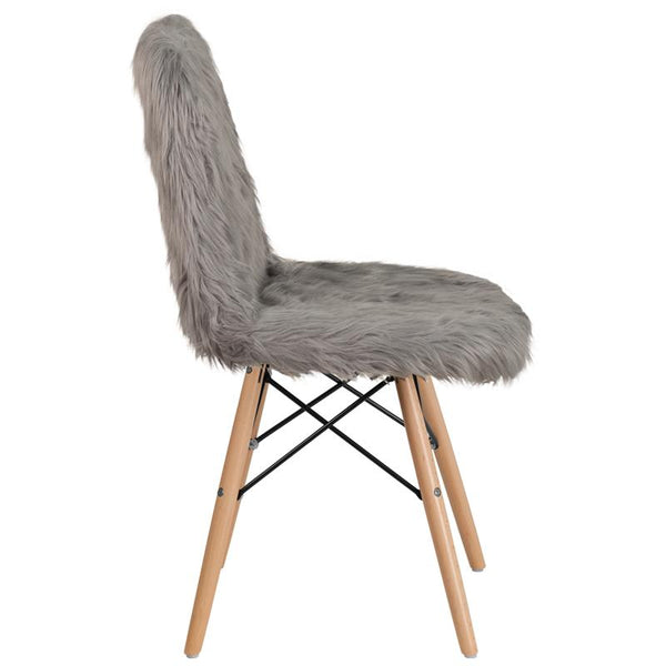 Flash Furniture Shaggy Dog Charcoal Gray Accent Chair - DL-16-GG