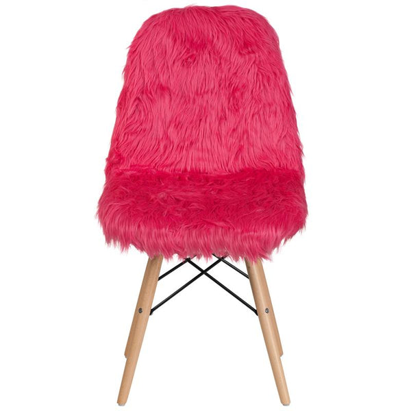 Flash Furniture Shaggy Dog Hot Pink Accent Chair - DL-1-GG