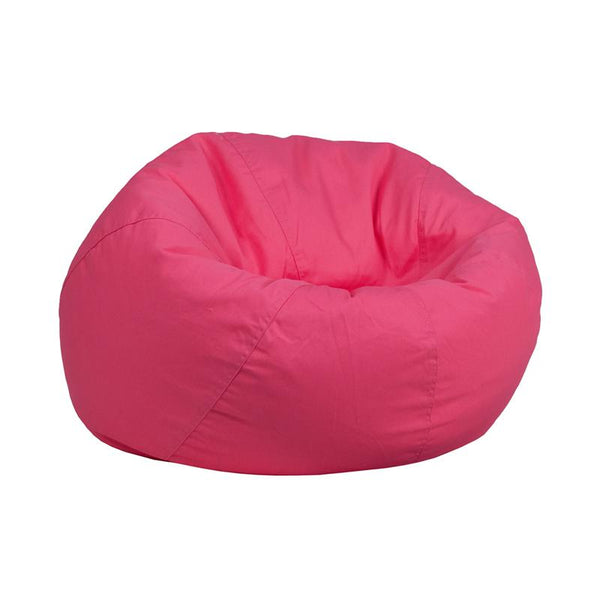 Flash Furniture Small Solid Hot Pink Kids Bean Bag Chair - DG-BEAN-SMALL-SOLID-HTPK-GG