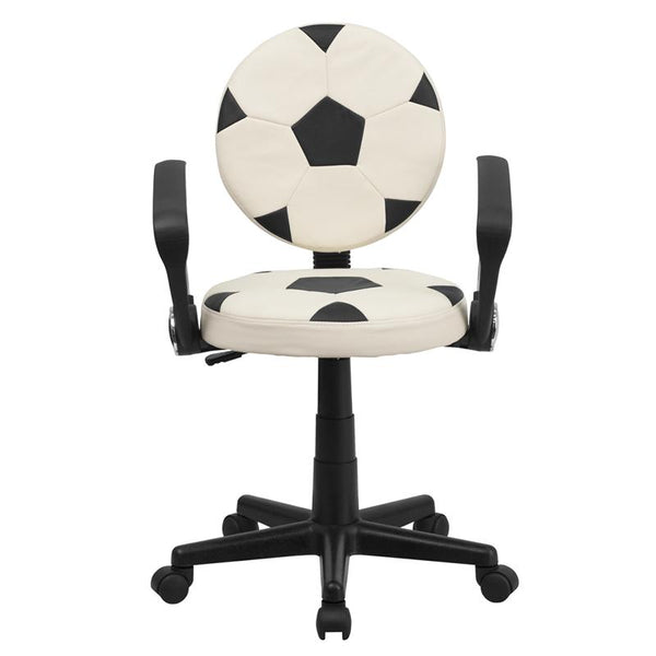 Flash Furniture Soccer Swivel Task Chair with Arms - BT-6177-SOC-A-GG