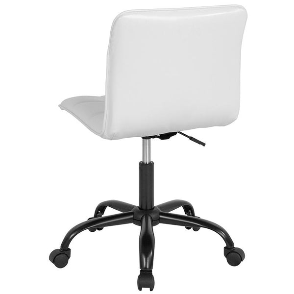Flash Furniture Sorrento Home and Office Task Chair in White Leather - DS-512C-WH-GG