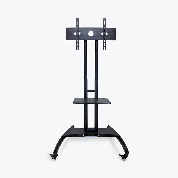 "Luxor Adjustable Height TV Stand w/ Accessory Shelf 32.75""W x 28.75""D x 46.5"" to 62.5""H (Black) - FP2500"