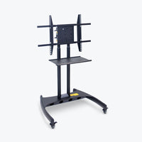 "Luxor Adjustable Height TV Stand w/ 90-Degree Rotating Mount & Accessory Shelf 32.75""W x 28.75""D x 46.5"" to 62.5""H (Black) - FP3500"