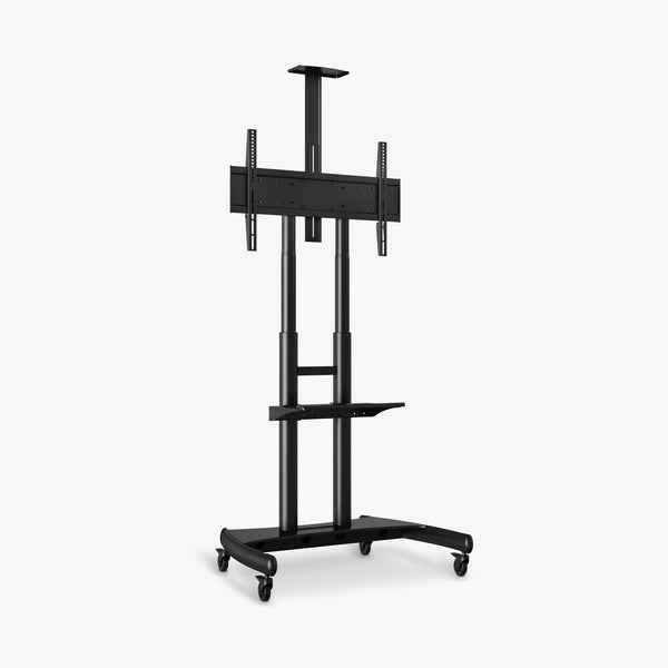 "Luxor Large Adjustable Height TV Stand 39.25""W x 28.25""D x 48"" to 65""H (Black) - FP4000"