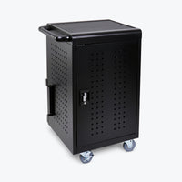 "Luxor 30-Computer/Tablet Charging Cart 24.5""W x 21.25""D x 37.5""H (Black) - LLTM30-B"