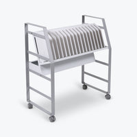 "Luxor 16-Tablet/Chromebook Open Charging Cart 27""W x 14.75""D x 30""H (Gray/White) - LOTM16"