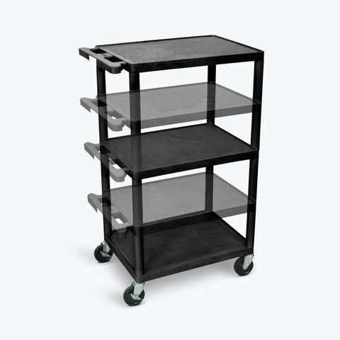 "Luxor 42""H Endura Multi-Height Presentation Cart 24""W x 18""D x 16"" to 42""H (Black) - LPDUO-B"