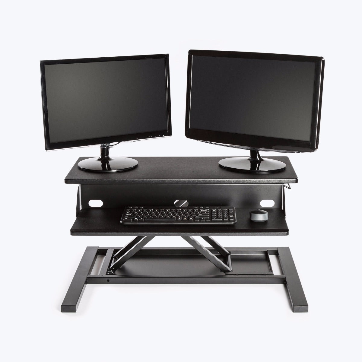 "Luxor Level Up 32 Pro Standing Desk Converter 32""W x 23.5""D x 5.25"" to 15.5""H (Black) - LVLUP PRO32-BK"