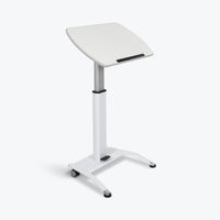 "Luxor Pneumatic Adjustable Height Lectern 25.5""W x 17""D x 28"" to 42.5""H (White) - LX-PNADJ-WH"