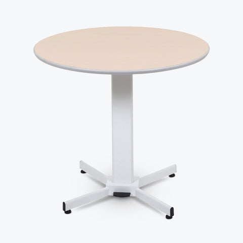 "Luxor 36"" Round Pneumatic Adjustable Height Pedestal Table 31.5"" diameter x 27.5 to 42""H (White) - LX-PNADJ-ROUND"