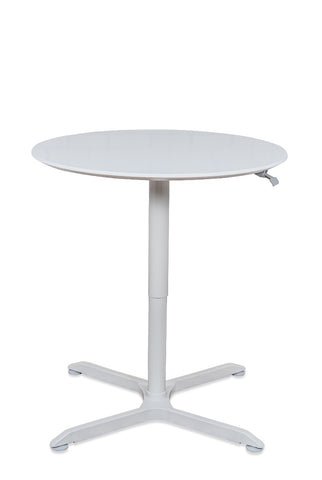 "Luxor 32"" Round Pneumatic Height Adjustable Cafe Table (Gray) - LX-PNADJ-32RD"