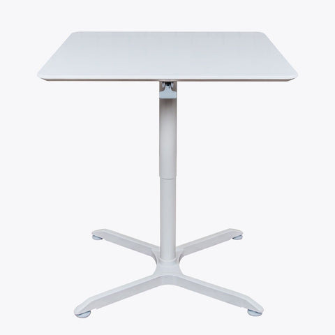 "Luxor 32"" Square Pneumatic Adjustable Height Cafe Table 31.5""W x 27.6"" to 42.4""H (Gray) - LX-PNADJ-32SQ"