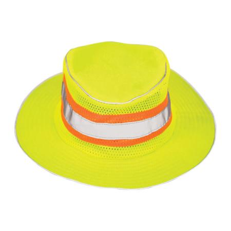ML Kishigo Accessories Full Brim Safari Hat - Small-Medium -  Lime - 2822s