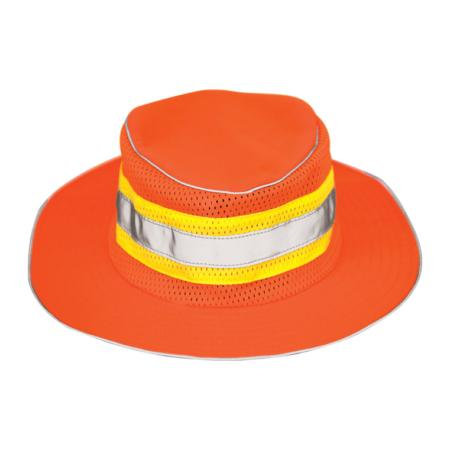 ML Kishigo Accessories Full Brim Safari Hat - Small-Medium -  Orange - 2823s
