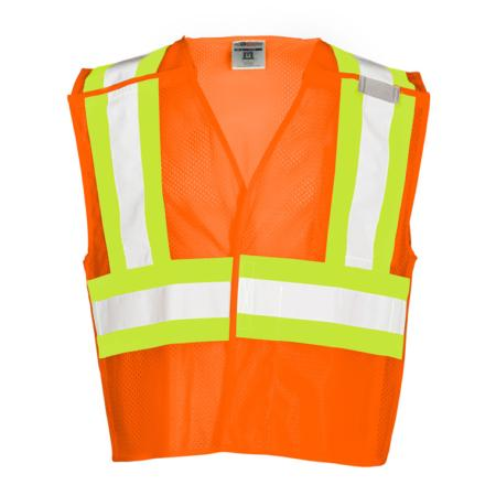 ML Kishigo Class 2 Contrasting Mesh Breakaway Vest Large (Orange) - 1176L