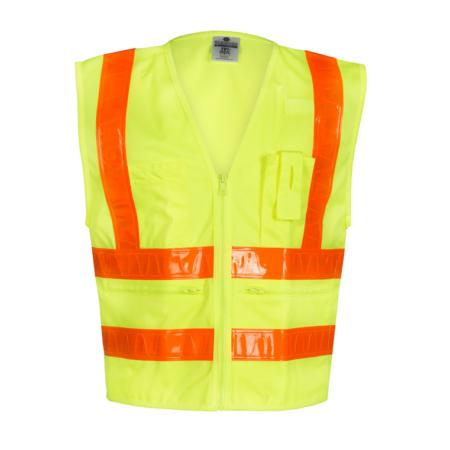 ML Kishigo Class 2 Combined-Performance 5-Pocket Solid Vest Large (Lime) - 1197L