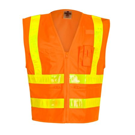 ML Kishigo Class 2 Combined-Performance 5-Pocket Solid Vest Large (Orange) - 1198L