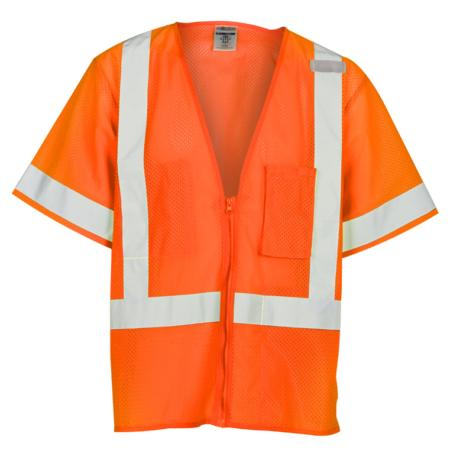 ML Kishigo Class 3 Economy All Mesh Vest Large (Orange) - 1265L