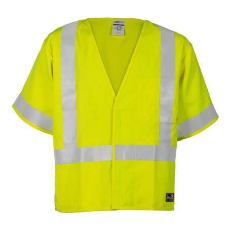 ML Kishigo Flame Resistant FR Class 3 Economy Vest - Medium -  Lime - F498M