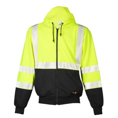 ML Kishigo Flame Resistant Premium Black Series FR Hoodie - Medium -  Lime - F407M