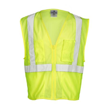 ML Kishigo Flame Resistant Self Extinguishing Mesh Vest - Large -  Lime - FM419L