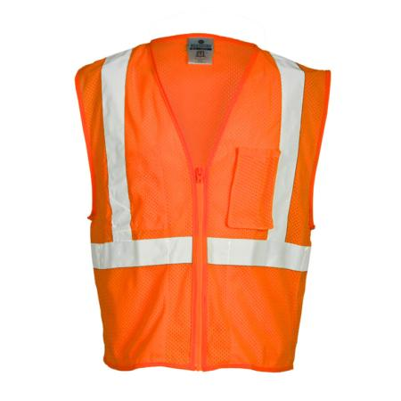 ML Kishigo Flame Resistant Self Extinguishing Mesh Vest - Large -  Orange - FM420L