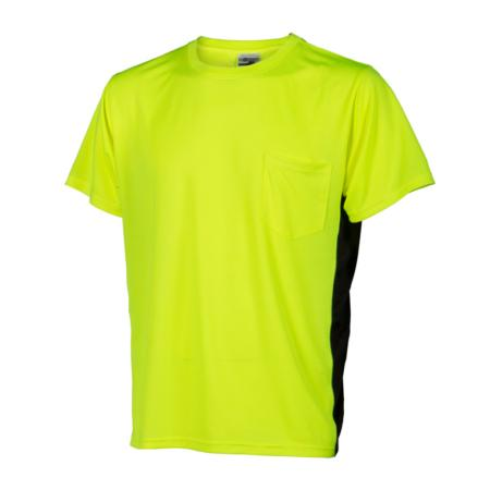 ML Kishigo Non-ANSI T-Shirts Premium Black Series High Vis T-Shirt - Medium -  Lime - 9200M