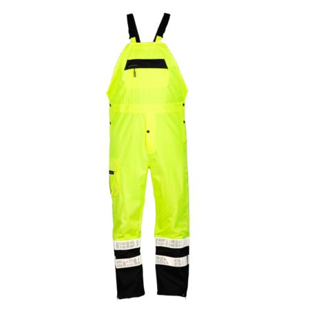 ML Kishigo Rainwear Premium Black Series Rainwear - Small-Medium -  Lime Bib - RWB106S