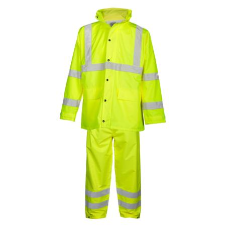 ML Kishigo Rainwear Rainwear Set - Economy - Large-XLarge -  Lime Jacket/Pant - RW110L