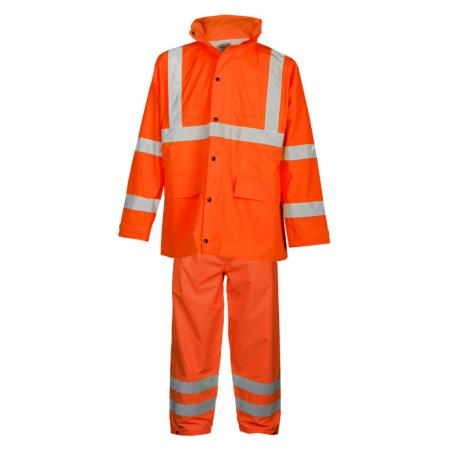 ML Kishigo Rainwear Rainwear Set - Economy - Small-Medium -  Orange Jacket/Pant - RW111S