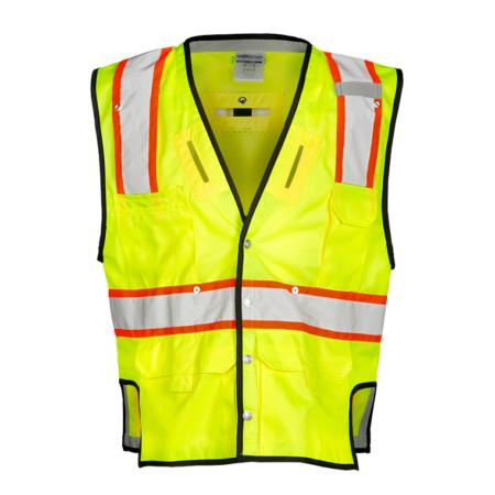 ML Kishigo Specialty Vests Fall Protection Vest - Large-XLarge -  Lime - T341L