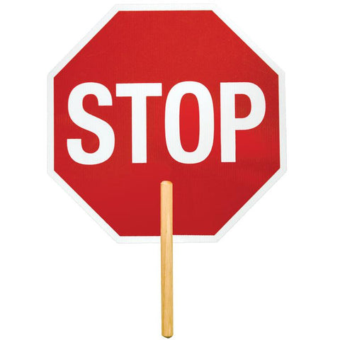 "ML Kishigo Stop Signs Non-Reflective 18"" Stop Sign with 9"" handle - Ultra Lightweight -  Coraplast - 5965"