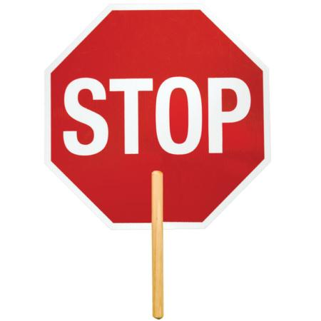 "ML Kishigo Stop Signs Reflective: High Intensity Grade 18"" Stop Signs -  Aluminum with 12"" handle - 5961"