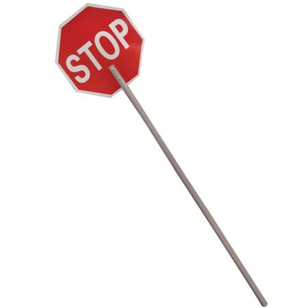 "ML Kishigo Stop Signs Reflective: High Intensity Grade 18"" Stop Signs -  Aluminum with 60"" 2 piece handle - 5963"