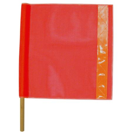 ML Kishigo Warning Flags Heavy Duty Vinyl Coated Mesh with Orange Prismatic Tape - 5988