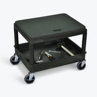 "Luxor Mobile Mechanics Seat 24""W x 18""D x 20""H (Black) - MS21-B"