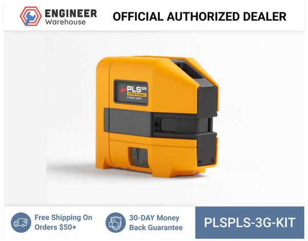 Pacific Laser Systems PLS 3G 3-point Green Laser Level Kit - PLS 3G KIT