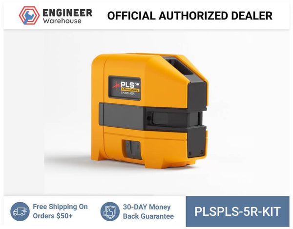 Pacific Laser Systems PLS 5R 5-point Red Laser Level Kit - PLS 5R KIT