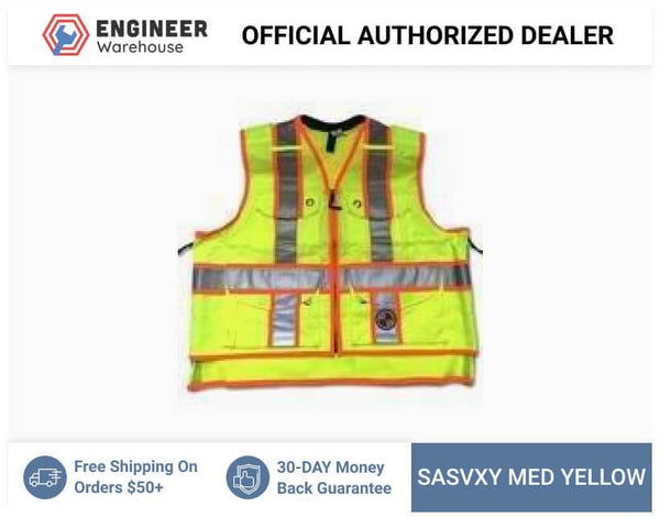 Safety Apparel X-Back Summer Vest Medium (Power Yellow) - SVXY MED YELLOW