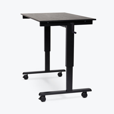 "Luxor High-Speed Crank-Adjustable Stand-Up Desk 47.25""W x 29.5""D x 29.5"" to 45.25""H (Black) - STANDCF48-BK/BO"