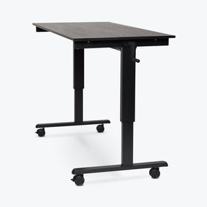 "Luxor 60"" Crank Adjustable Stand-Up Desk (Black Oak Desk, Black Frame) - STANDCF60-BK/BO"