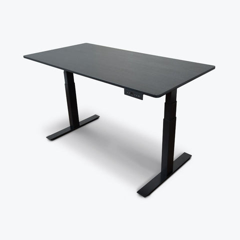 "Luxor 60"" 3-Stage Dual-Motor Electric Stand-Up Desk 59""W x 29.5""D x 26"" to 51.6""H (Black Oak) - STANDE-60-BK/BO"