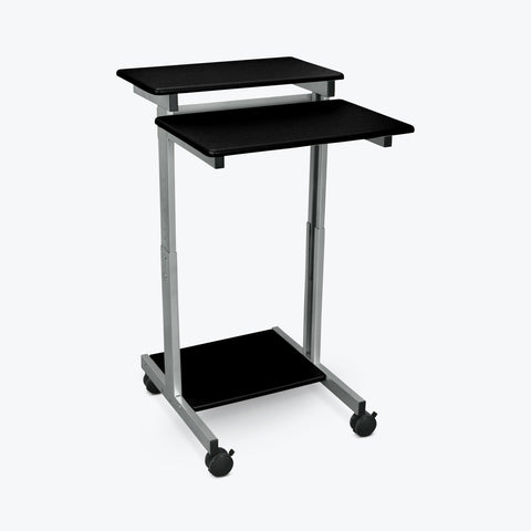 "Luxor 24"" Stand-Up Presentation Station (Silver/Black) - STANDUP-24-B"