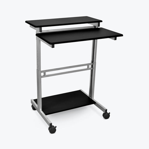 "Luxor 31.5"" Adjustable Stand-Up Workstation (Silver/Black) - STANDUP-31.5-B"